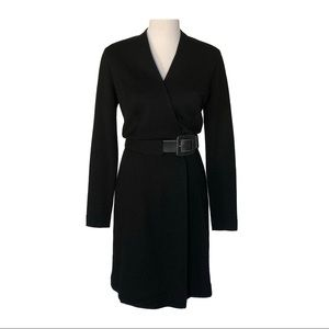 Escada Wool Wrap Dress w/ Belt